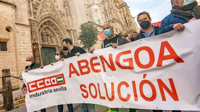 Imagen de archivo de una manifestación de los trabajadores de Abengoa en Sevilla.