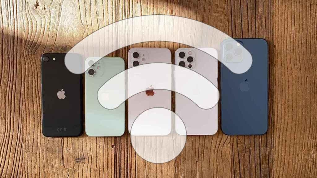 Símbolo WiFi en iphone