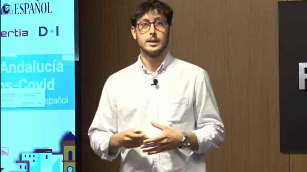 Alfonso Porras, cofundador de Logístiko, durante su intervención en el Deep Day del I Foro Económico 'La Andalucía pos-Covid'.