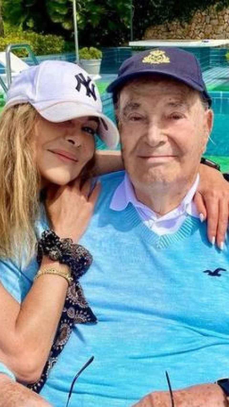 Ana Obregón y su padre en Palma de Mallorca.