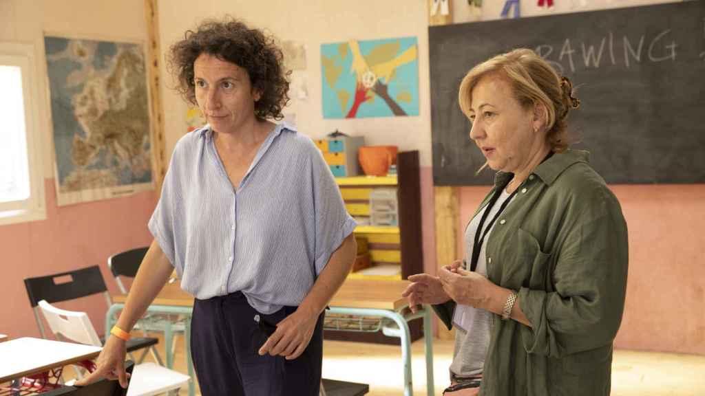 Nely Reguera y Carmen Machi en el rodaje de 'El nieto'.