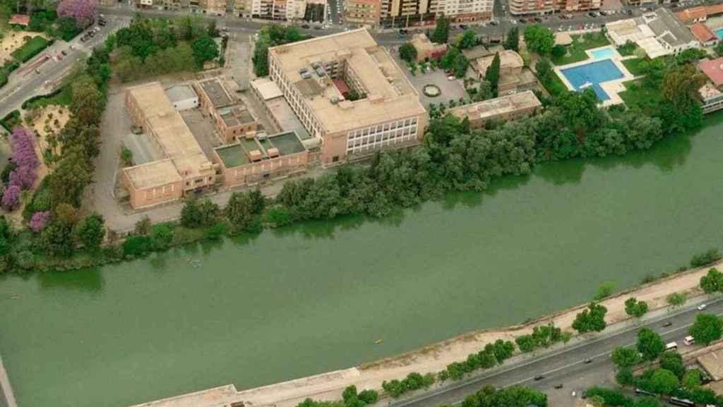 Vista aérea de la Antigua Fábrica de Tabacos de Altadis en Sevilla.