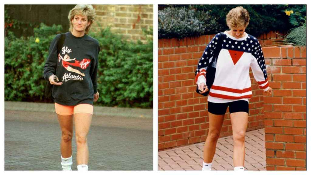 On the right, Diana in 1995, on the left in 1980.