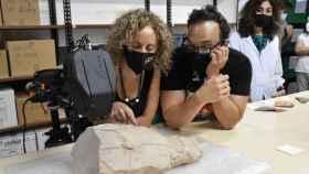 El fragmento tiene gran interés arqueológico, ya que corresponde al siglo V a.c.