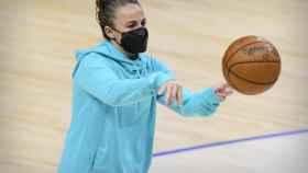 Becky Hammon, en un partido de los San Antonio Spurs