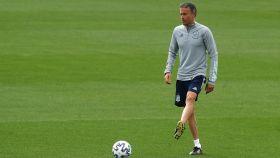 Luis Enrique, dirigiendo la Selección