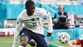 Ousmane Dembélé, en el partido de la selección de Francia ante Hungría de la Eurocopa 2020