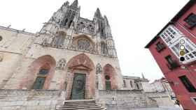 Fachada de Santa María de la catedral gótica. Cabildo de Burgos