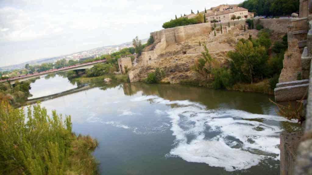 Imagen del río Tajo a su paso por Toledo
