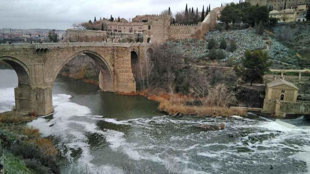 Río Tajo a su paso por Toledo. Foto: Plataforma de Toledo en Defensa del Tajo