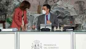 Pedro Sánchez, durante el Consejo de Ministros de este martes.