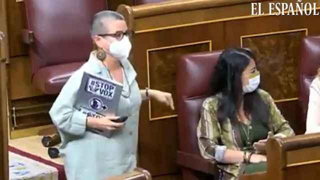 María Carvalho (ERC) llama 'fascista' a Macarena Olona (Vox) en el Congreso