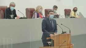 El consejero de Agua, Antonio Luengo, en la Asamblea Regional.