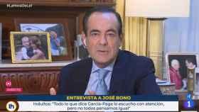 José Bono, exministro de Defensa, en TVE.