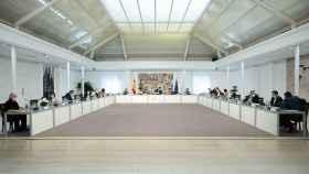 El Gobierno reunido en Consejo de Ministros.