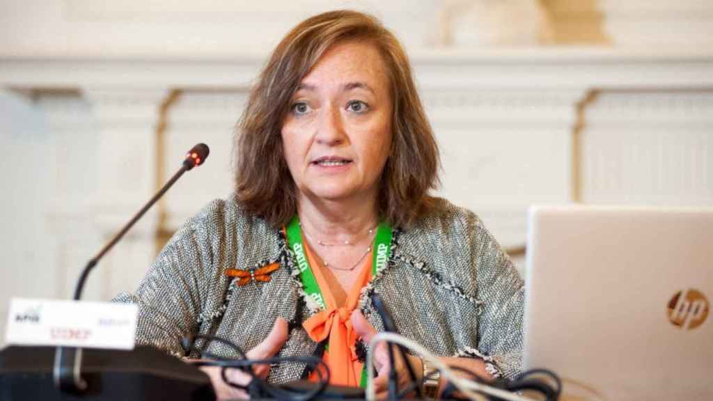 Cristina Herrero, presidente de AIReF, durante su intervención en el curso de la Apie en Santander.
