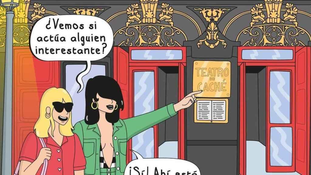 Ilustración de Moderna de Pueblo en denuncia a la polémica de La Chocita del Loro