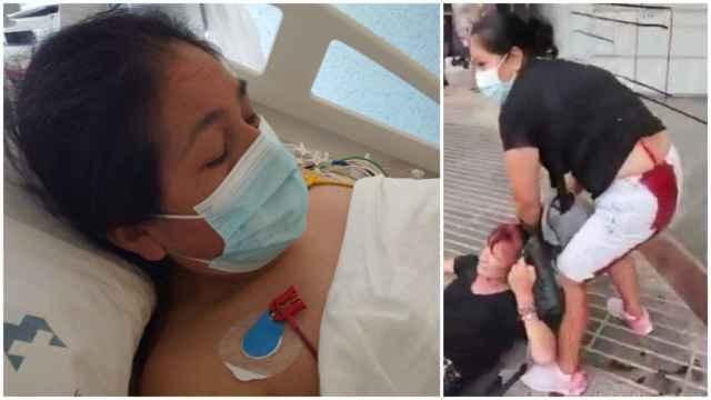 Lili fue apuñalada en una 'cola del hambre' de Cáritas en Cartagena.