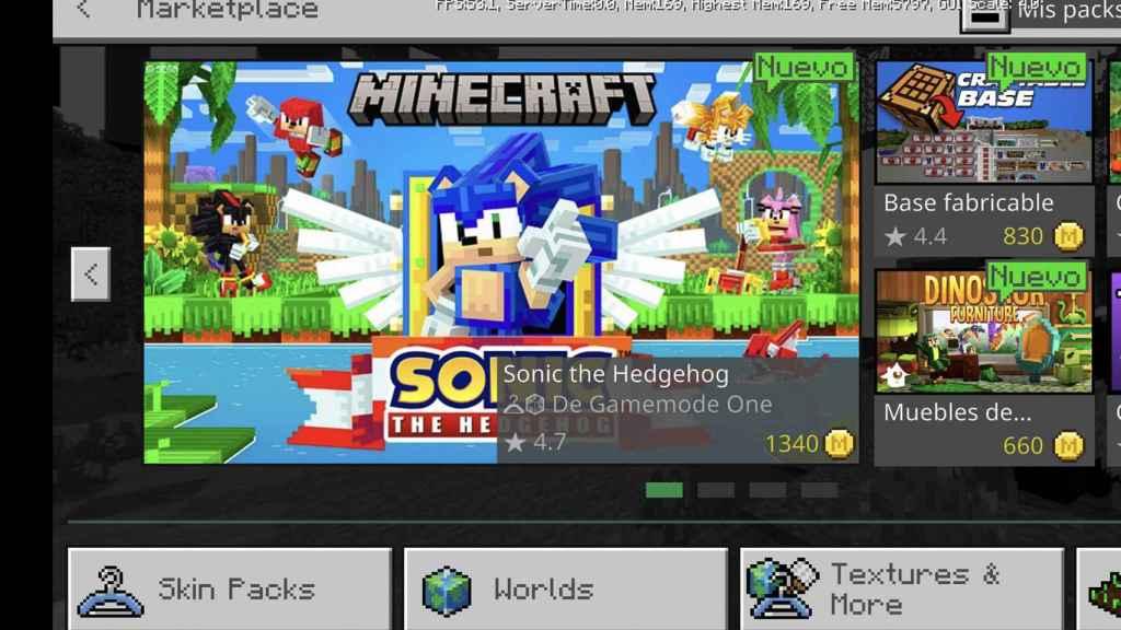 Sonic el puercoespín en el marketplace