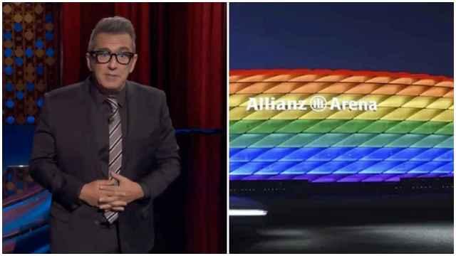 Las imágenes del deporte: la bronca de Buenafuente a la UEFA en favor de la bandera arcoíris