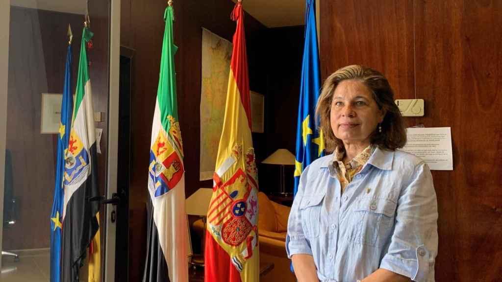 La vicepresidenta primera y consejera de Hacienda y Administración Pública de Extremadura, Pilar Blanco-Morales