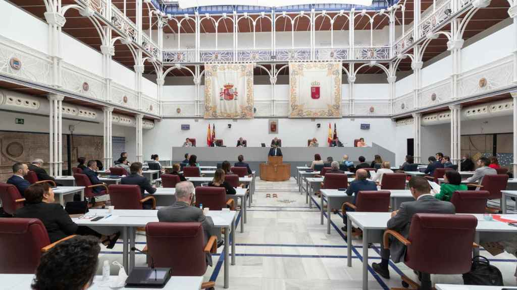 Pleno del Parlamento autonómico en Cartagena.