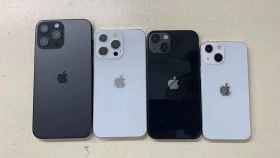 Modelos 'dummy' de los iPhone 13.