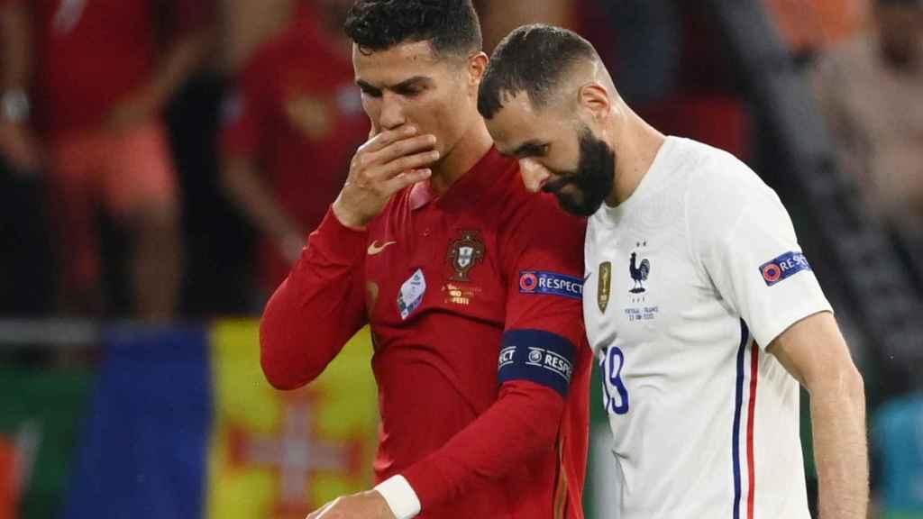 Cristiano Ronaldo y Benzema en el Portugal - Francia