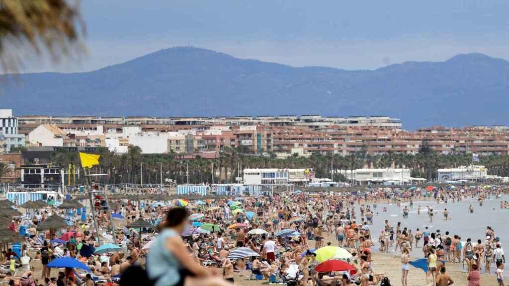 Playa de Valencia, hace unos días.