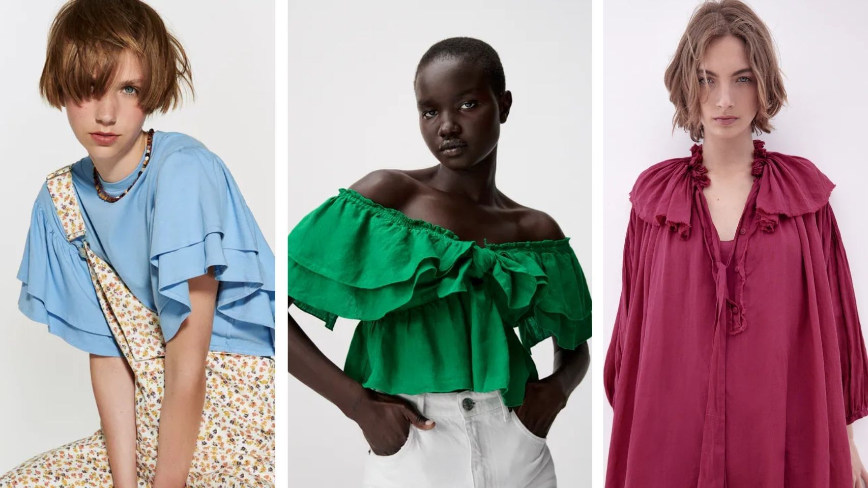 Volantes 'maxi': Zara adorna su nueva colección con el sello del estilo 'boho'.