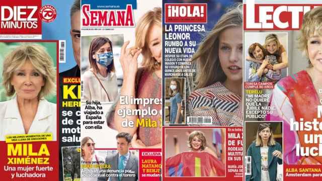 Kiosco rosa: la lucha de Mila Ximénez contra su enfermedad, portada de todas las revistas