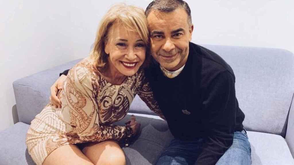 Mila Ximénez y Jorge Javier Vázquez, en una imagen compartida en redes sociales.