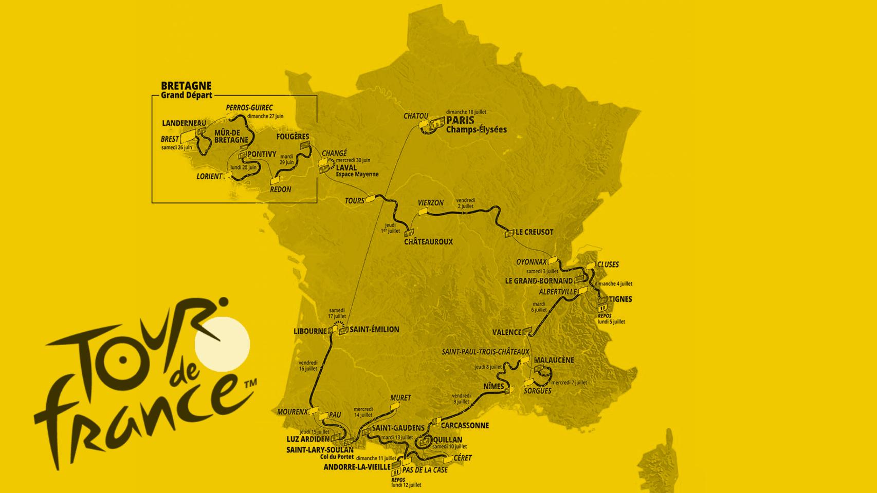 Así serán las 21 etapas del Tour de Francia 2021: recorrido y perfiles