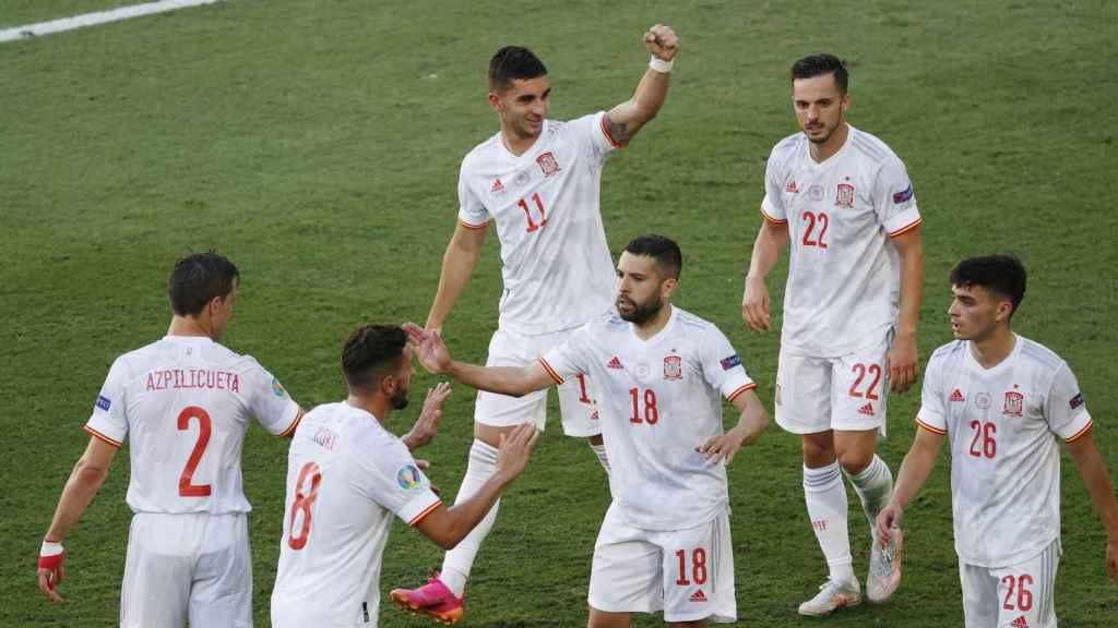 Ferrán Torres marca el cuarto gol de España a Eslovaquia