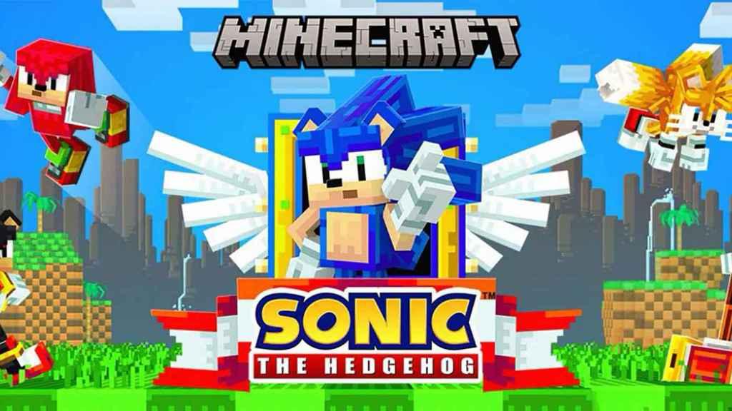 Sonic en Minecraft