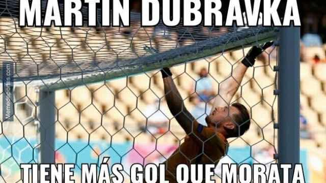 Los memes más divertidos del Eslovaquia - España con Morata como protagonista