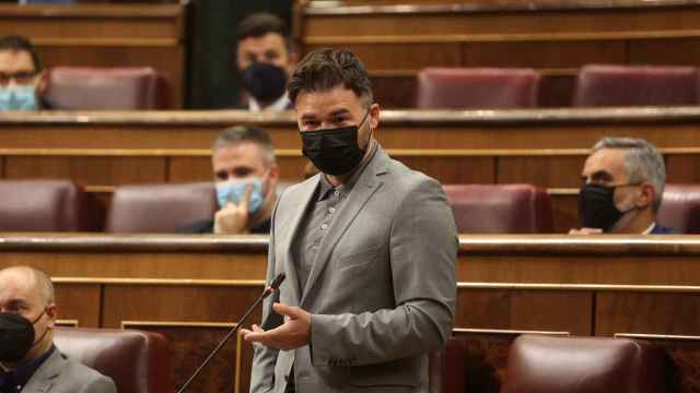 Gabriel Rufián, durante la sesión de control.