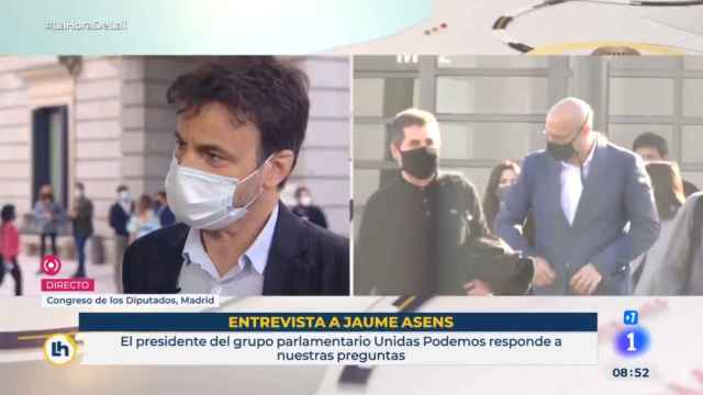Jaume Asens, presidente de Unidas Podemos en el Congreso, en TVE.
