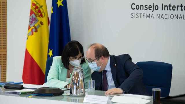 Carolina Darias y Miquel Iceta durante el Consejo Interterritorial de este miércoles.