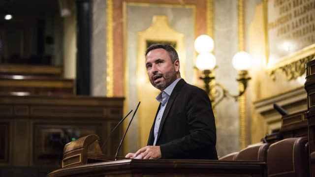 El diputado de Ciudadanos, Guillermo Díaz Gómez interviene en una sesión plenaria en el Congreso de los Diputados.