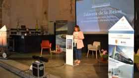 La alcaldesa de Talavera de la Reina, Tita García Élez, durante la presentación.