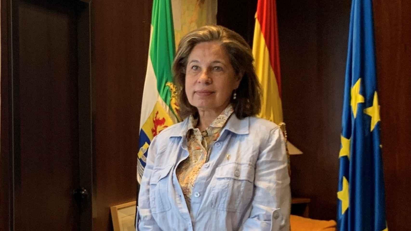 La vicepresidenta primera y consejera de Hacienda y Administración Pública de la Junta de Extremadura, Pilar Blanco-Morales