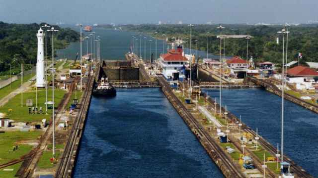Vista general del Canal de Panamá.