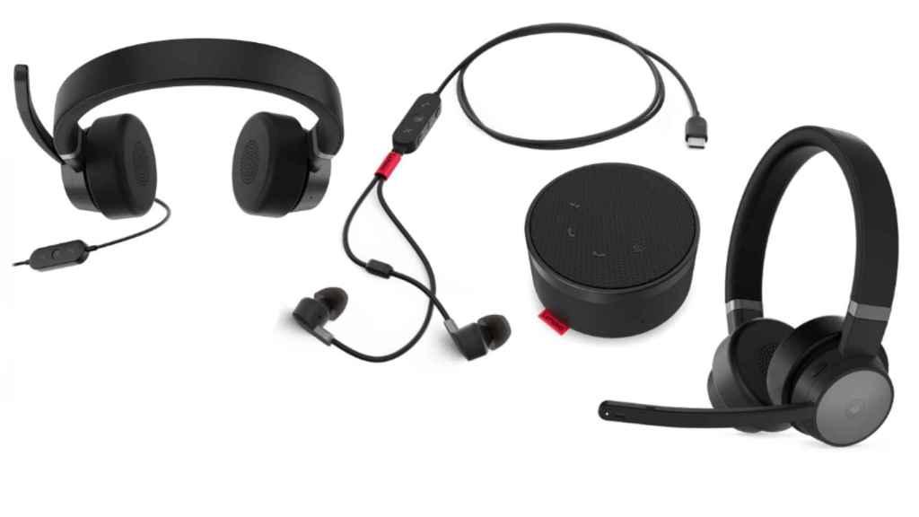 El nuevo altavoz y los auriculares de Lenovo.