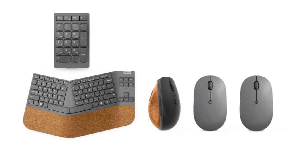 Los nuevos ratones y teclados de Lenovo.