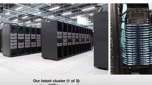 Captura de pantalla en la que se ve el superordenador de Tesla.