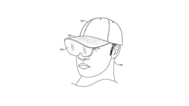 Gorra con visor de realidad aumentada.
