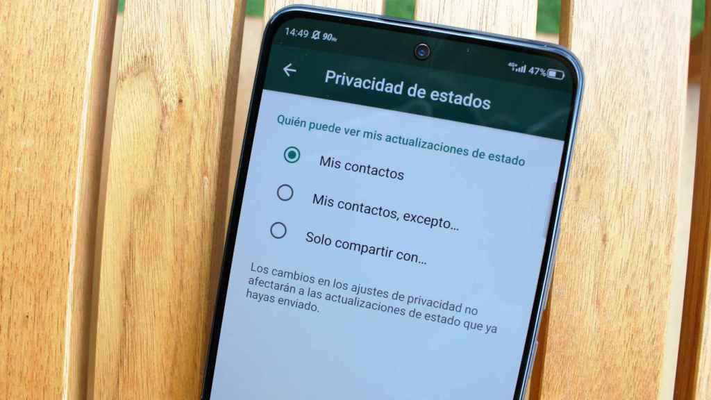 También se pueden ocultar los estados de WhatsApp.