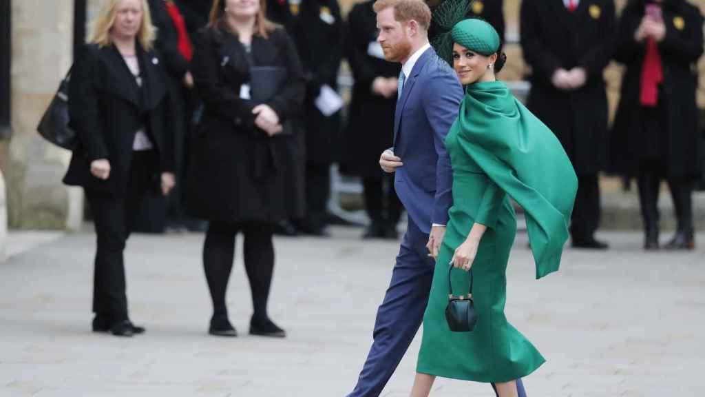 Harry y Meghan, durante uno de sus últimos actos como parte activa de la familia real británica.