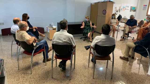 Reunión en Guardamar con alcaldes de municipios del departamento de Salud de Torrevieja.